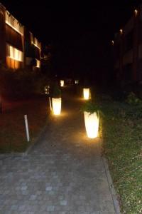 Entrée - Pots lumineux
